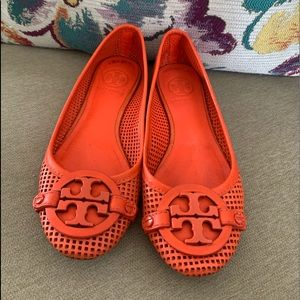 Tory Burch AADEN Perforated Leather Ballet Flats